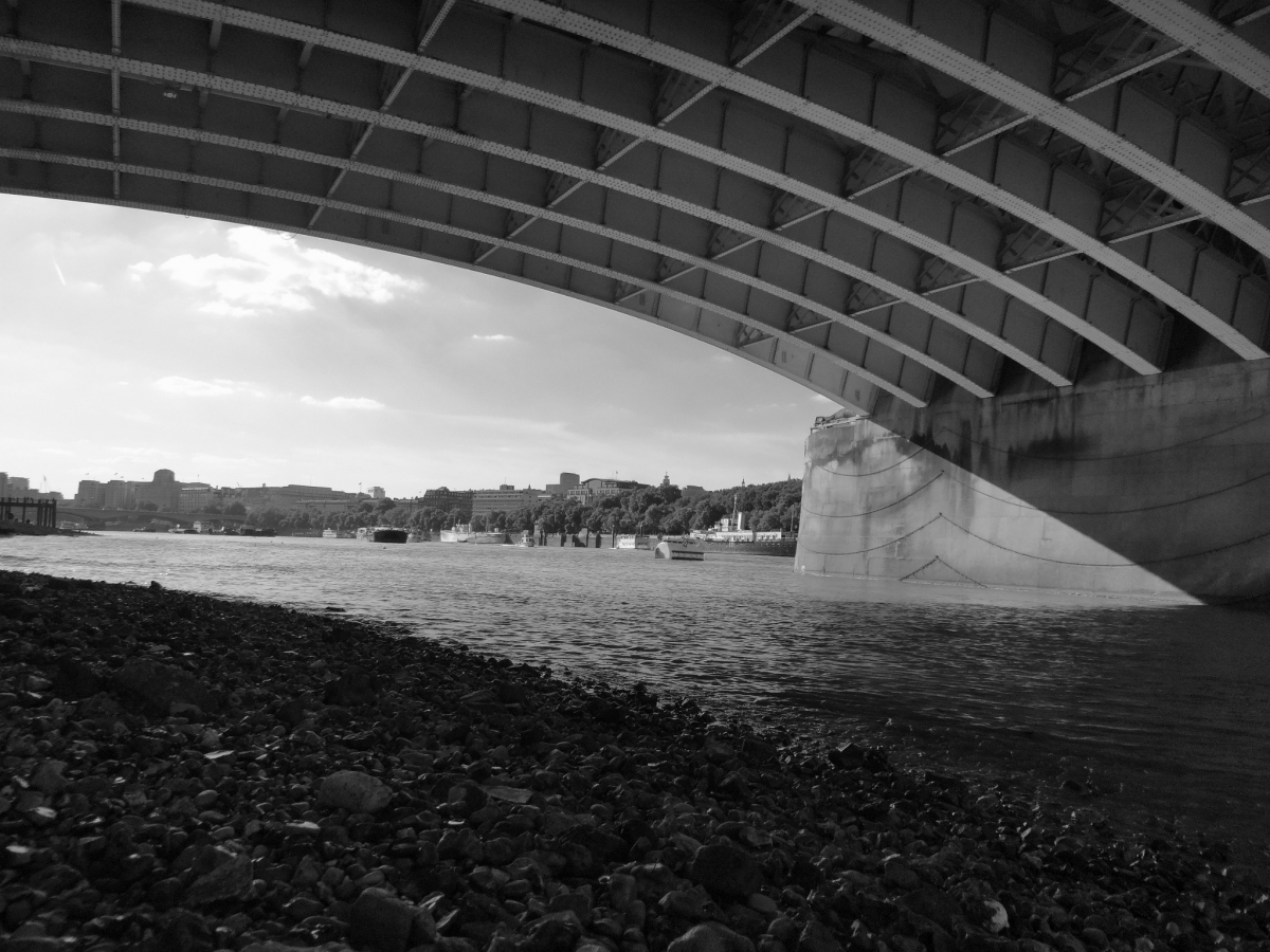 The view from under Blackfriars Bridge.