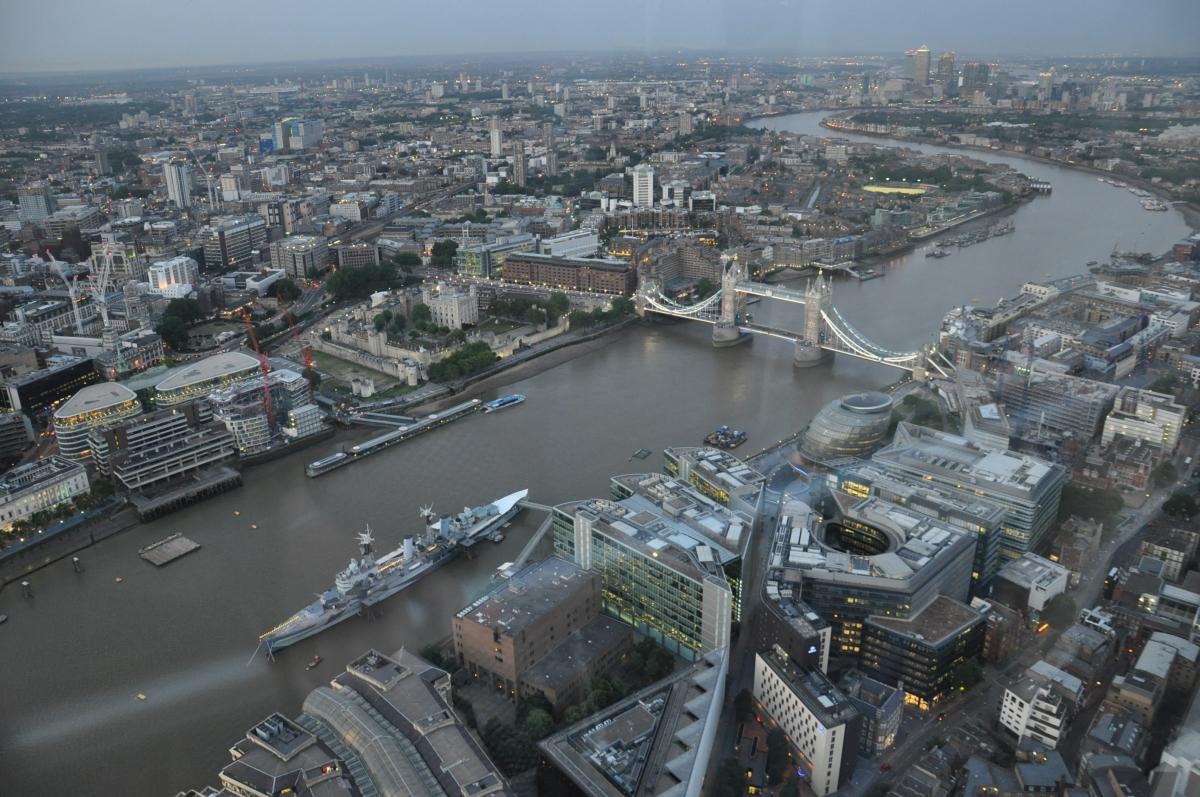 London Bridge from Top of Shard