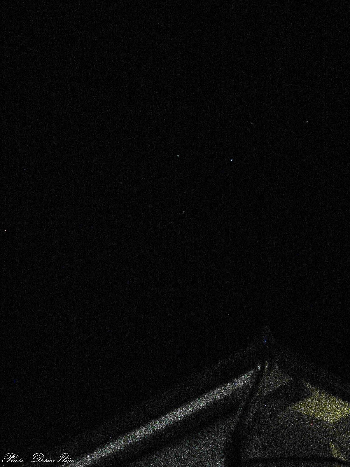 Constellation Cassiopeia behind House... 14.11.'14.