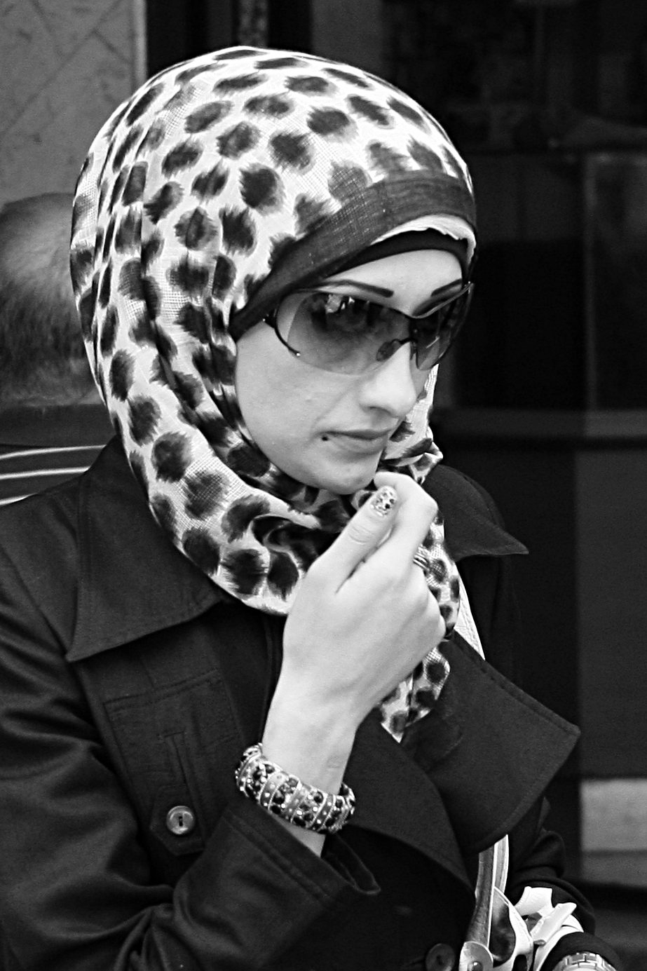 Stylish muslimah in Jerusalem