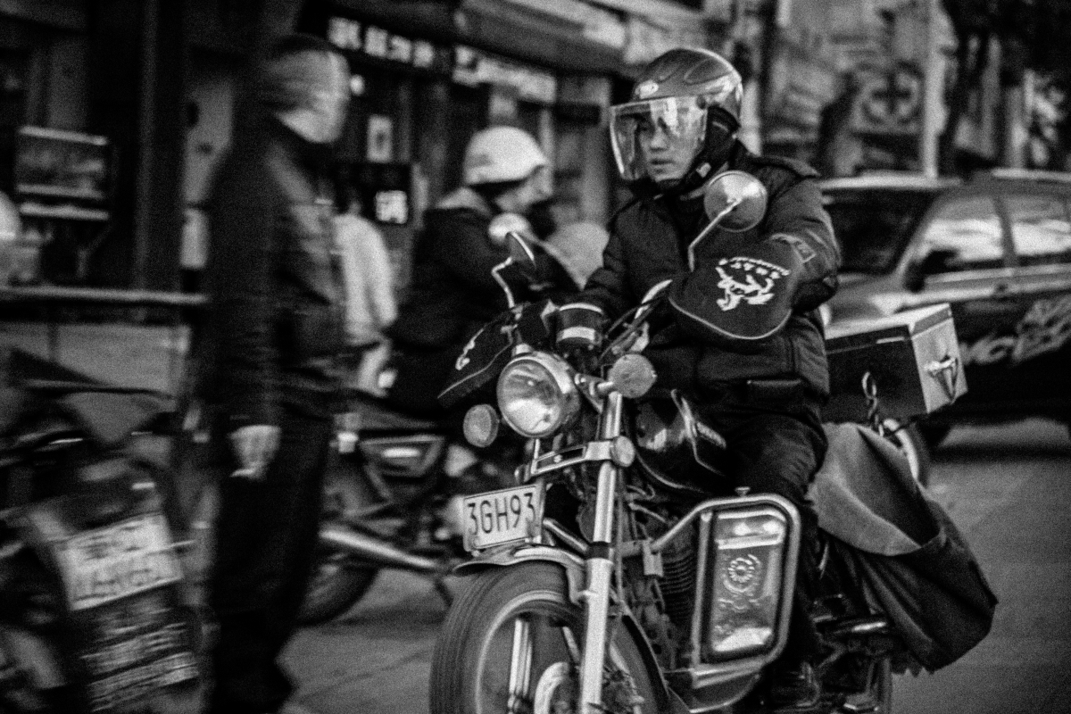 Motorcyclist in Anxi