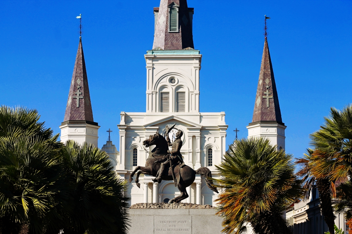 Andrew Jackson and the St. Louis Cathedral, New Orleans