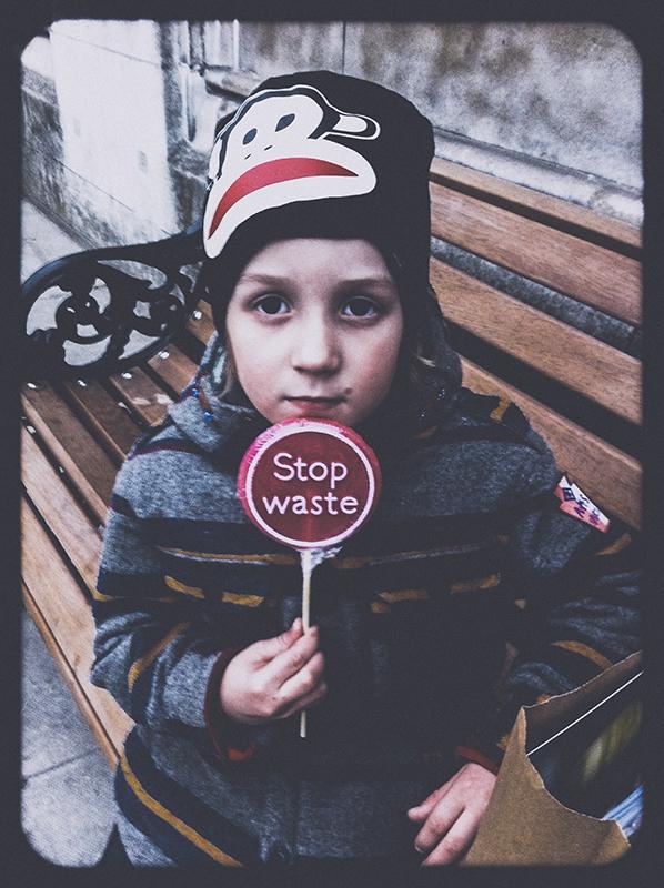 'Stop Waste!' by Katya Evdokimova