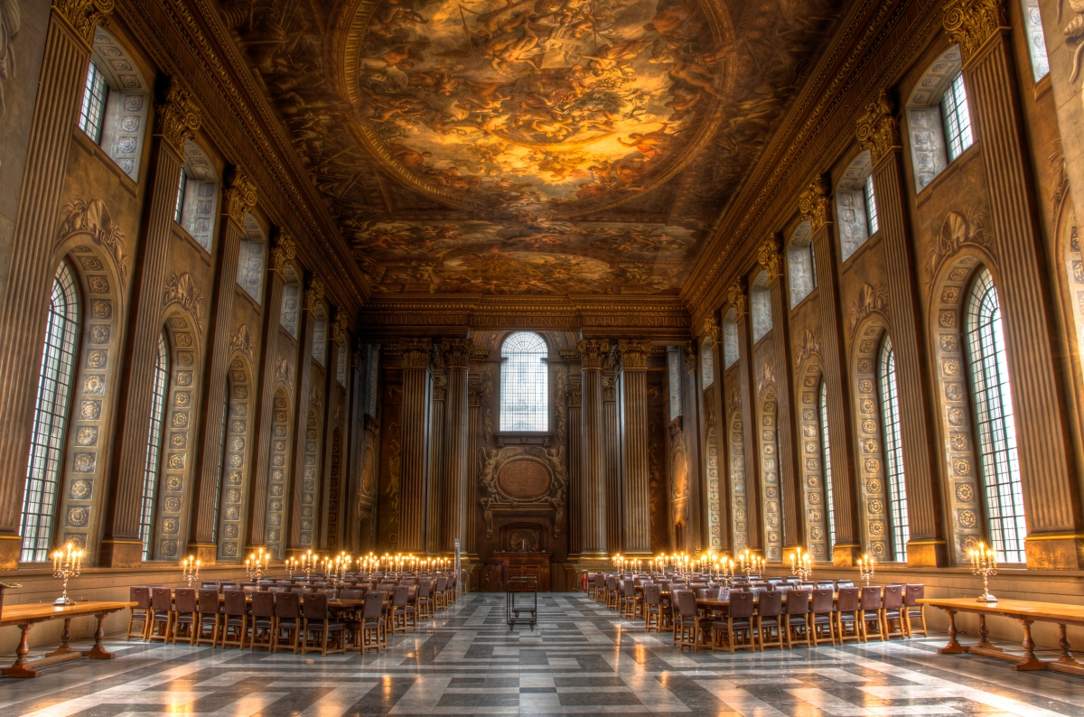 The grandiose Painted Hall, Greenwich