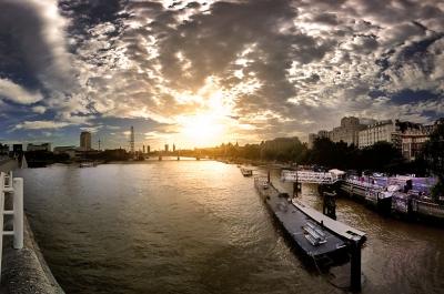 The view from Waterloo Bridge