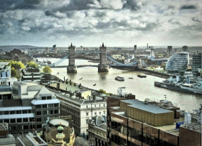 View from top of the Great Fire of London Monument