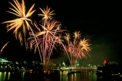 Thames Fireworks by Film
