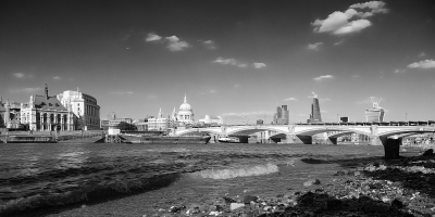 The City, taken from the Thames foreshore.