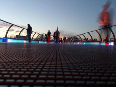 Crossing at dusk