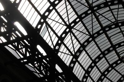 Sunlight through the atrium at Hays Galleria