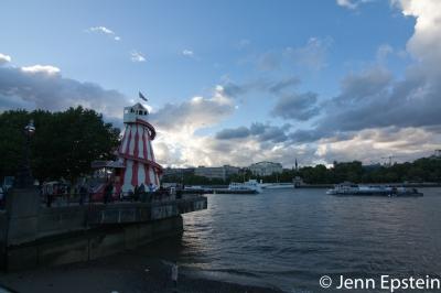 Sunset on the 2013 Thames Festival