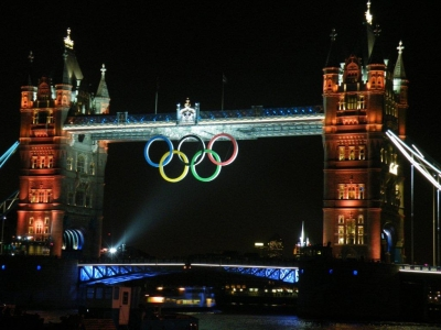 Tower Bridge turned Gold for the medals won at the 2012 London Olympics