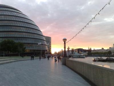 Sun Sets on City Hall