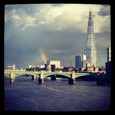 Rainbow Over London Bridge