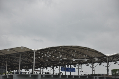 Departures Terminal at Hyderabad Airport,India