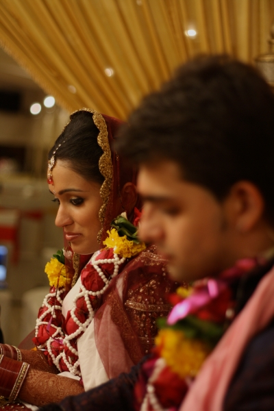 The Bride & the Groom during an Indian Wedding.