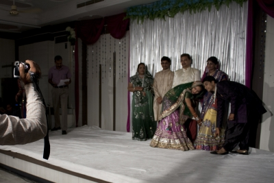 The Bride & the Groom & both families during rituals.