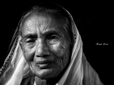 Portrait of a grandmother.
