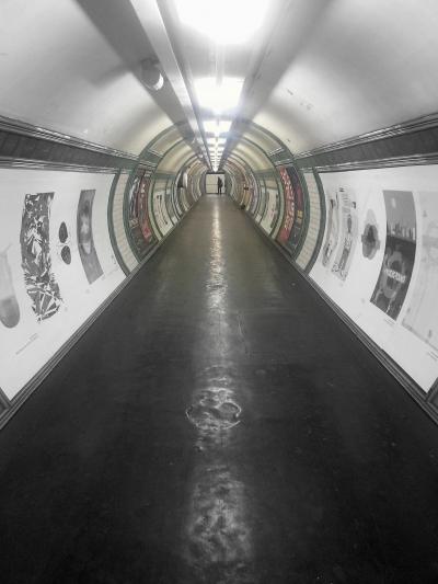 Embankment tube station tunnel