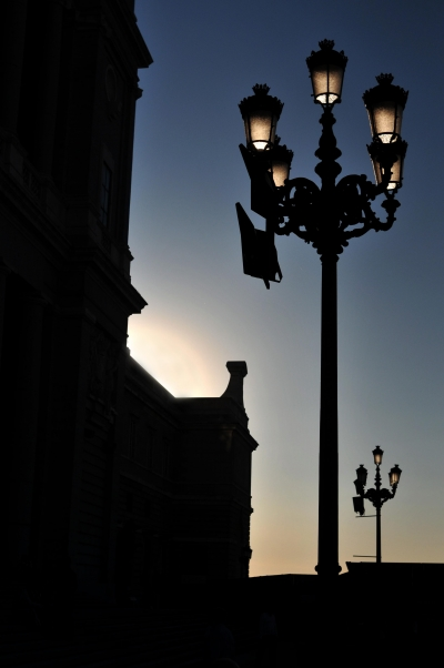 The street lamps