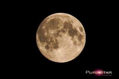 Super moon view from Rutland UK