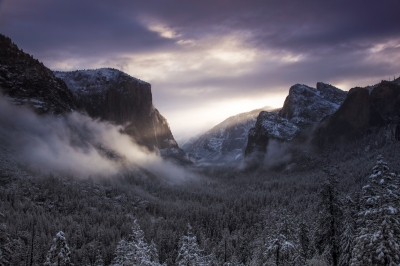 First Light Yosemite Valley