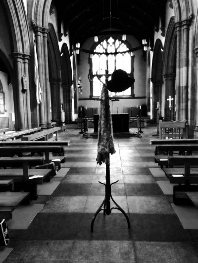 Hat - stand in church