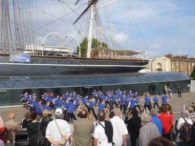 Flash Mob at Cutty Sark