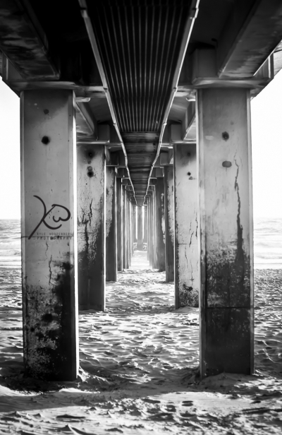Pier Leading into the sea. Durban South Africa