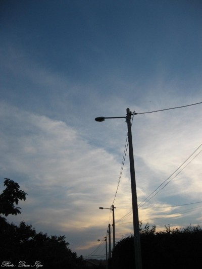 Street, Sunset and Cirrus Clouds. 11.06.'14. ; )