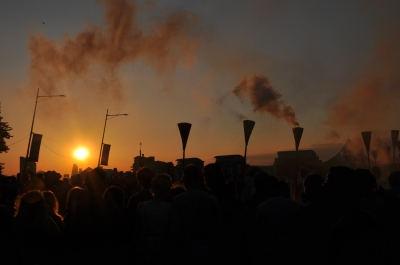 Greenwich Fair and Sunset at GDIF 2014