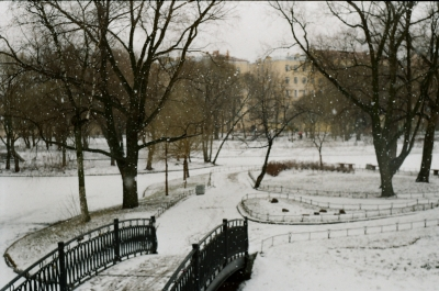 park in the snow