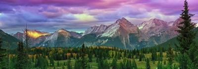 Molas Pass Sunset Panorama