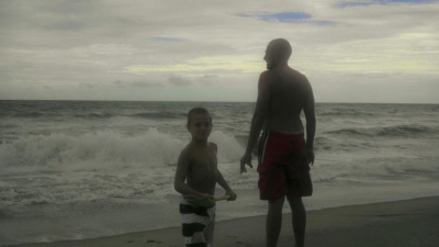 Father and Son Ocean View