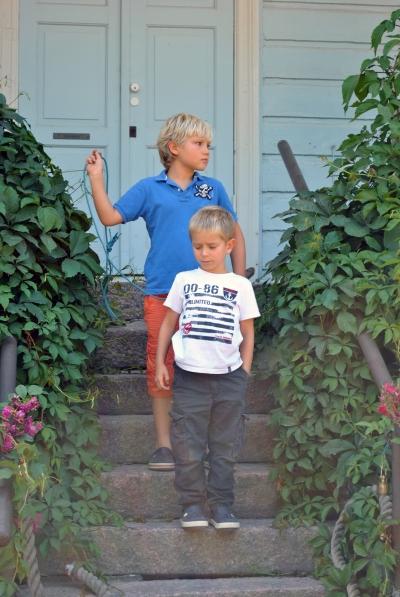 Boys with blonde hair