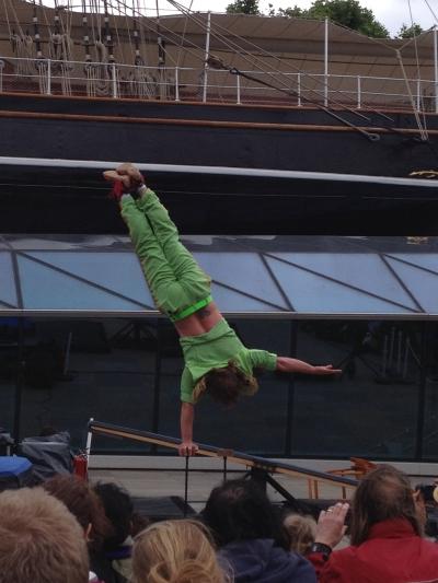 Acrobat stunts