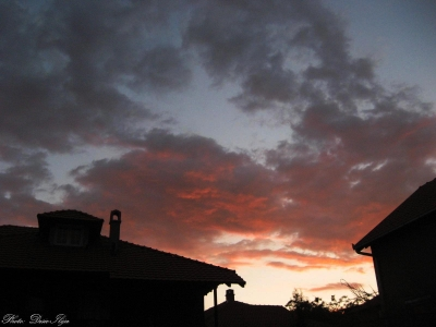 Evening Red Clouds after Sunset... (above the Street). 09.07.'14.