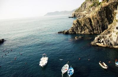 boats in Cinque Terre