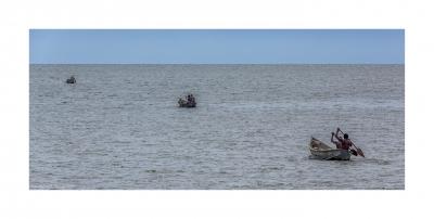 Fisher on Lake Victoria, Uganda - March 2014