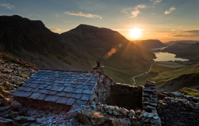 Summer Sunset above Buttermere, Lake District