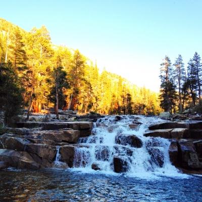 Bear Creek at sunset