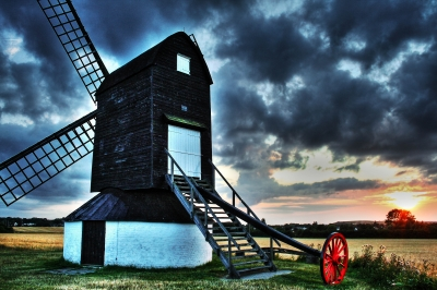 Pitstone Windmill Sunset in HDR