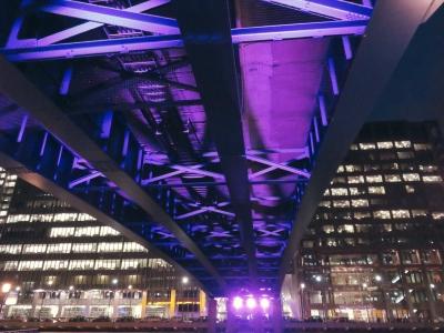Underneath DLR track