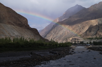 Rainbow in Nubra