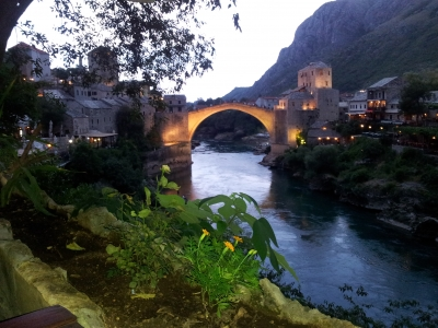 Sunset in Mostar