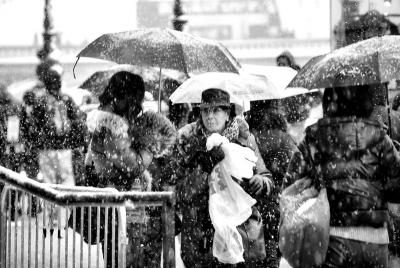 London Snowy Day