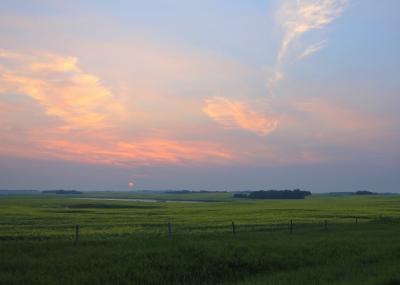 setting over the prairie