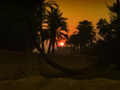 A beautiful sunset in Bahawalpur, Pakistan.