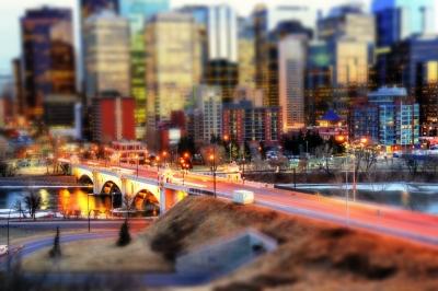 A beautiful view of Calgary Down Town, Canada.