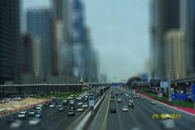 A tiltshift of Dubai, UAE